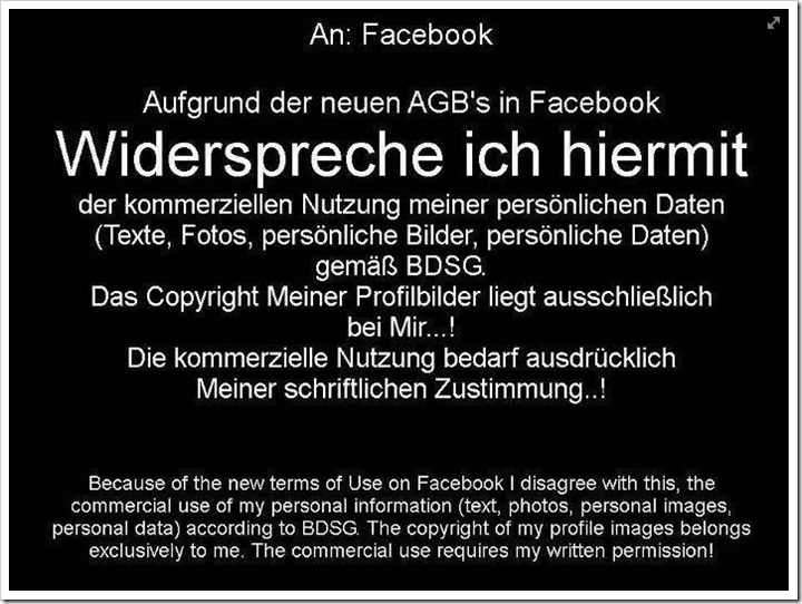 Die Facebook AGB